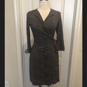 Diane von Furstenberg DVF wrap dress gray heart